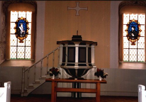 Inside the reformed church in Fredericia, Denmark